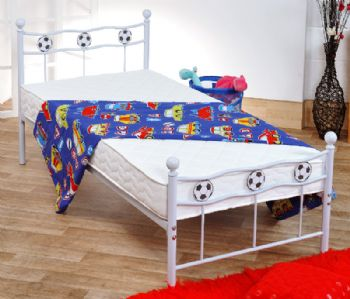 Modern Metal Football Bed in White or Black (2011 Version) [FACTORY 2ND]